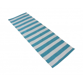 Blue Striped 100% Cotton Handwoven Yoga/exercise Mat- 60 X 180 Cm