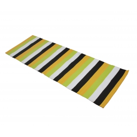 Overseas Cotton Yoga Mat (yellow, Black , White & Green)