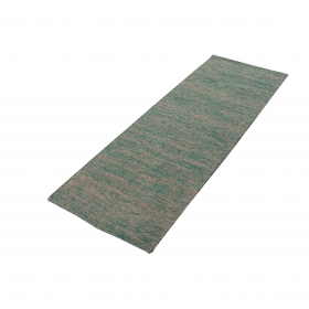 Overseas Premium Qualified Textured 100% Cotton Rug Handwoven Yoga Exercise Mat (green) - 185 L X 60 B