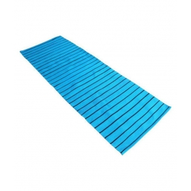 100% Cotton Handwoven Yoga/exercise Mat ( Blue & Black ) - 60 Cm B X 185 Cm L