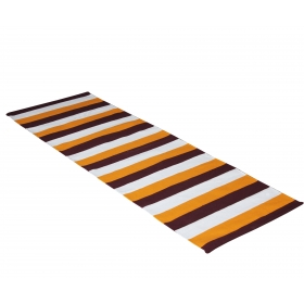 100% Cotton Handwoven Yoga/exercise Mat ( Maroon,orange & White ) - 60cm B X 185cm L
