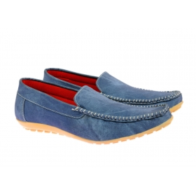 Classic Synthetic Denim Look Loafers