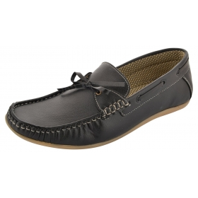 Men's Black Rubber Loafers