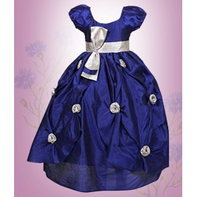 Blue Girl's Party Wear Gown