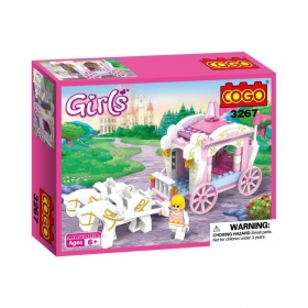 Girls Princess Horse Carriage Building Block Set