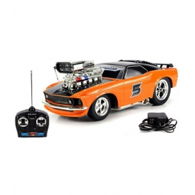 5 Ford Mustang Boss 429 Remote Control Rc Muscle Car 1:16 Scale With Working Head & Tail Lights