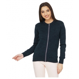 Acrylic Navy Zippered Cardigans