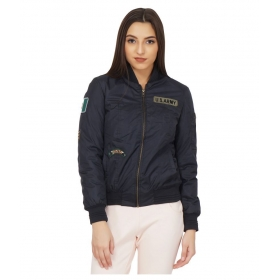 Nylon Navy Bomber Jackets