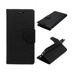 Samsung Galaxy J7 Nxt Flip Cover By Mercury - Black