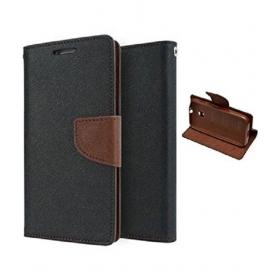Samsung Galaxy J7 Prime Flip Cover - Brown