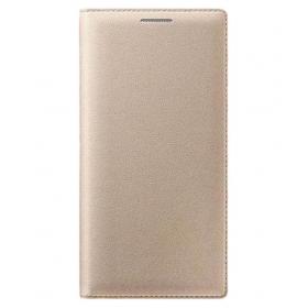 Samsung Galaxy On7 Flip Cover- Gold