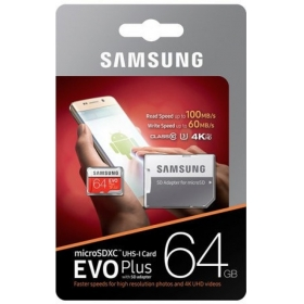 Samsung Evo 64gb 95 Mb/s 64 Gb Microsdhc Class 10 95 Mb/s Memory Card(with Adapter)