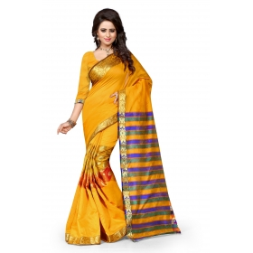 Sandy Kery Yellow Saree