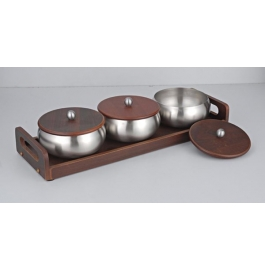 Meera Bowl With Wooden Tray