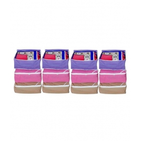 Purple Saree Cover - Pack Of 12