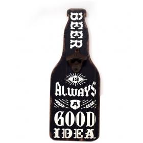 Black Wood Bottle Opener
