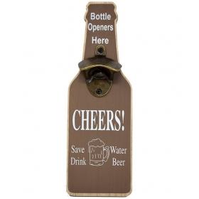 Brown Wood Bottle Opener