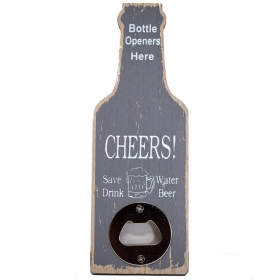 Grey Wood Bottle Opener