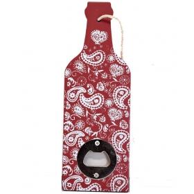 Red Wood Bottle Opener