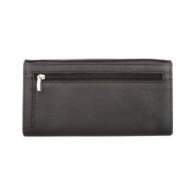 Brown Textured Ladies Wallet