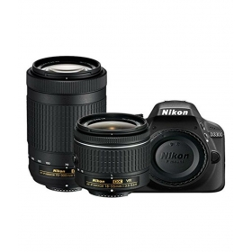 Nikon D3300 With Af-p 18mm-55mm Vr Lens + Af-p Dx Nikkor 70mm-300mm F/4.5-6.3g Ed Vr Lens , Memory Card And Bag