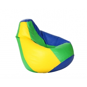Comfy Xxxl Bean Bag With Beans In Blue Green And Yellow