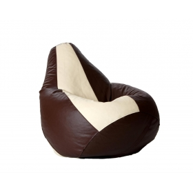 Fun In Xl Bean Bag With Beans In Brown & Beige