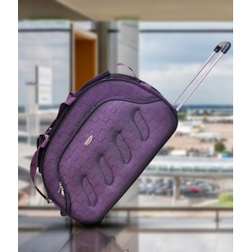 Pride Violet Trolley Duffle Bag (with Inside Trolley)