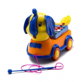 Lovely Elephant Xylophone Pull Along Toy
