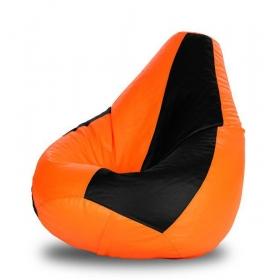 Xl Bean Bag Cover In Orange And Black (without Beans)