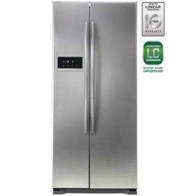 Lg 581 L 4 Star Side By Side Refrigerator (platinum Silver) - Gc-b207glqv