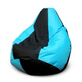 Black & Blue Bean Bag - Xxxl (filled, With Beans)