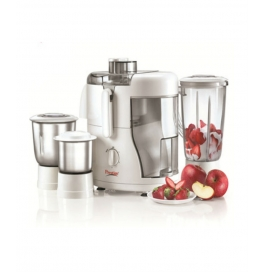 Prestige Champ 550 W Juicer Mixer Grinder (white/3 Jar)