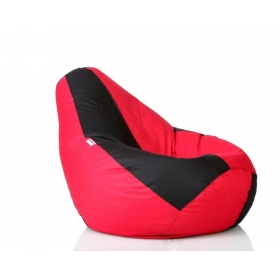 Comfy Xxxl Bean Bag With Beans In Red And Black