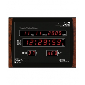 Ajanta Black Metal Olc 105 Digital Clock