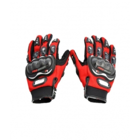 Motorcycle Motorcross Bike Racing Riding Gloves - Red