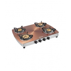 Sunflame 4b-ai Crystal Copper Toughened Glass Cooktop Metallic Copper