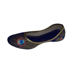 Blue Ethnic Footwear
