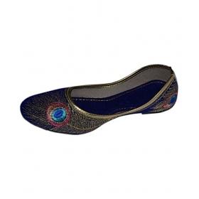 Blue Ethnic Footwear