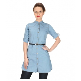 Cat Denim 3/4th Sleeves Tunics
