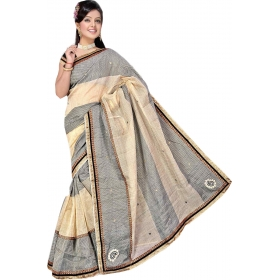 Women Chiku Saree With Blouse Piece