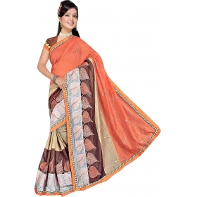 Womentometo  Saree With Blouse Piece