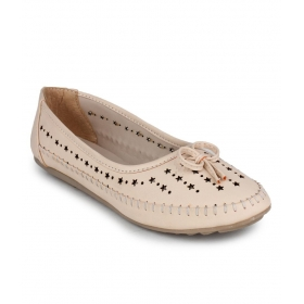 Star Design Beige Ballerinas