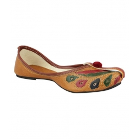 Brown Flat Ethnic Footwear