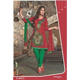 Satin With Embroidery Elegant Semi Stitched Salwar Kameez