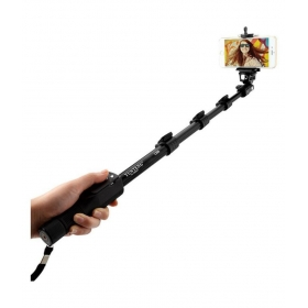 Black Bluetooth Selfie Stick - 125 Cm
