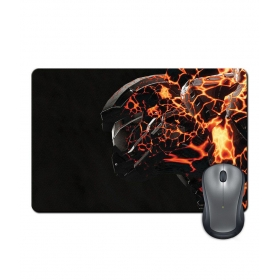 Anti-slip Rubber Base Fire & Metal Gaming Character Art Mouse Pad