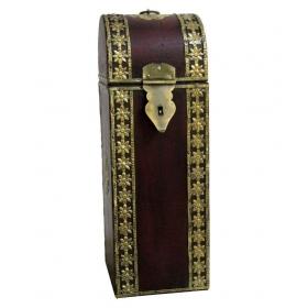 Brown Wooden Wine Bottle Box