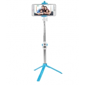 Signature Blue Bluetooth Selfie Stick - 70 Cm