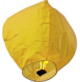 5 Sky Lanterns Yellow Paper Sky Lantern  (80 Cm X 12 Cm, Pack Of 5)